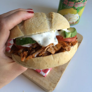 Broodje vega pulled jackfruit pork