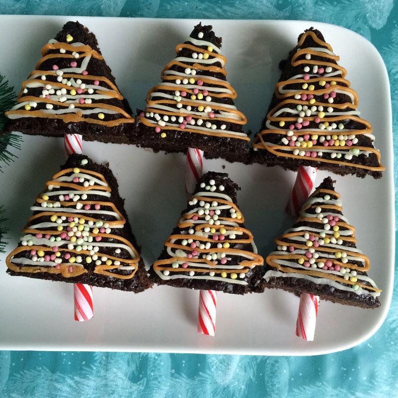 Brownie kerstbomen