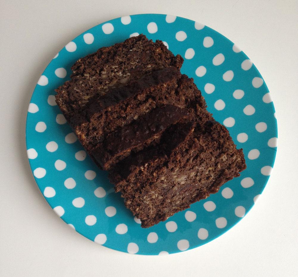 Chocolade pindakaas bananenbrood