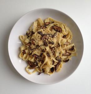 Carbonara pasta met facon