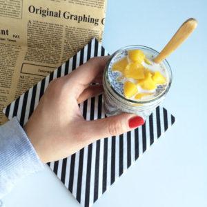 Chia pudding met mango