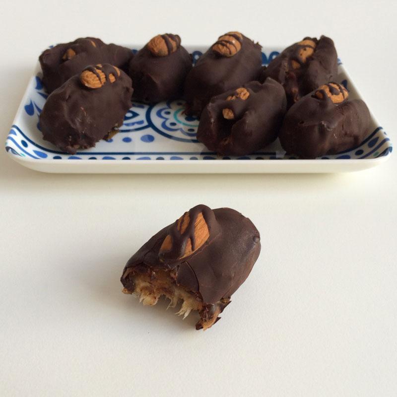 Choco amandel dadels