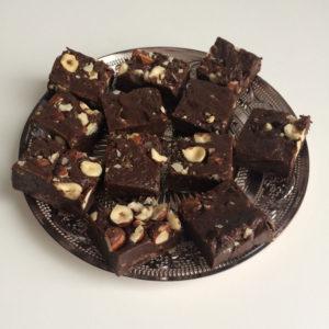 Choco fudge met hazelnoten