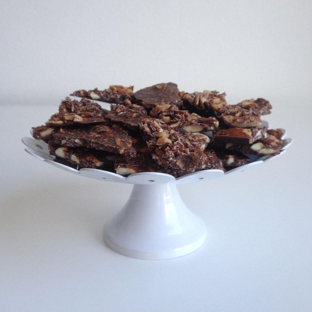 Chocolade met kokos en amandel