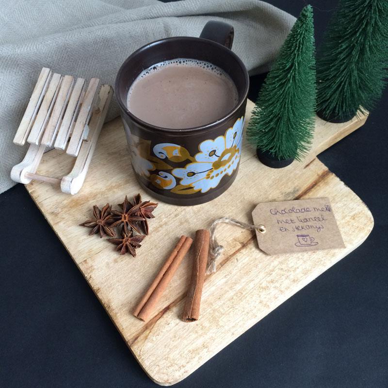 Chocolademelk met kaneel en steranijs