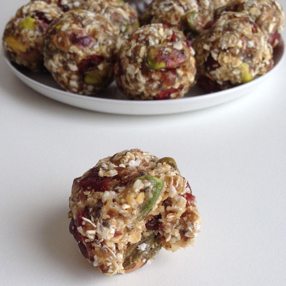 Cranberry pistache bites