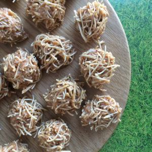 Crispy pindakaas nestjes