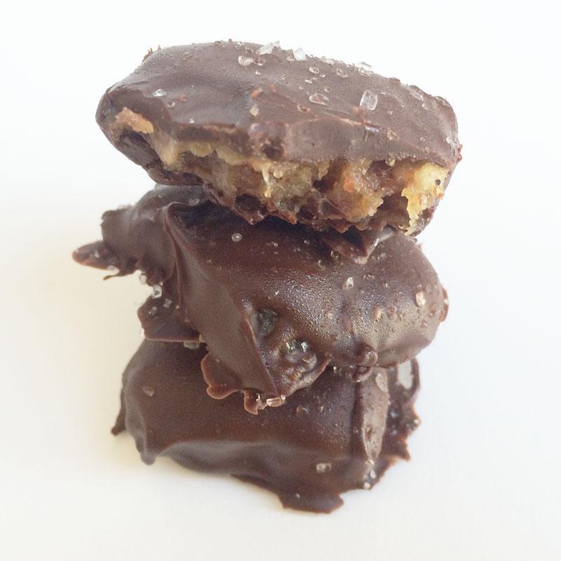 Dadel caramels met zeezout
