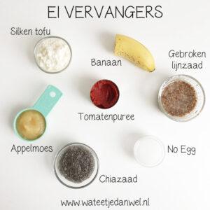 Vegan FAQ #2: Hoe vervang je ei?