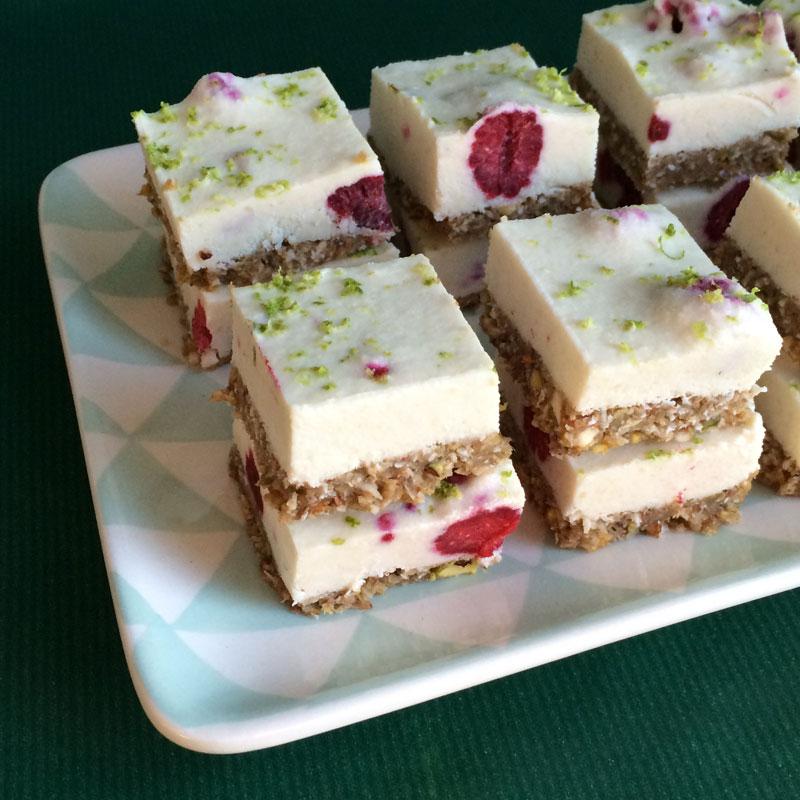 Frambozen squares met limoen