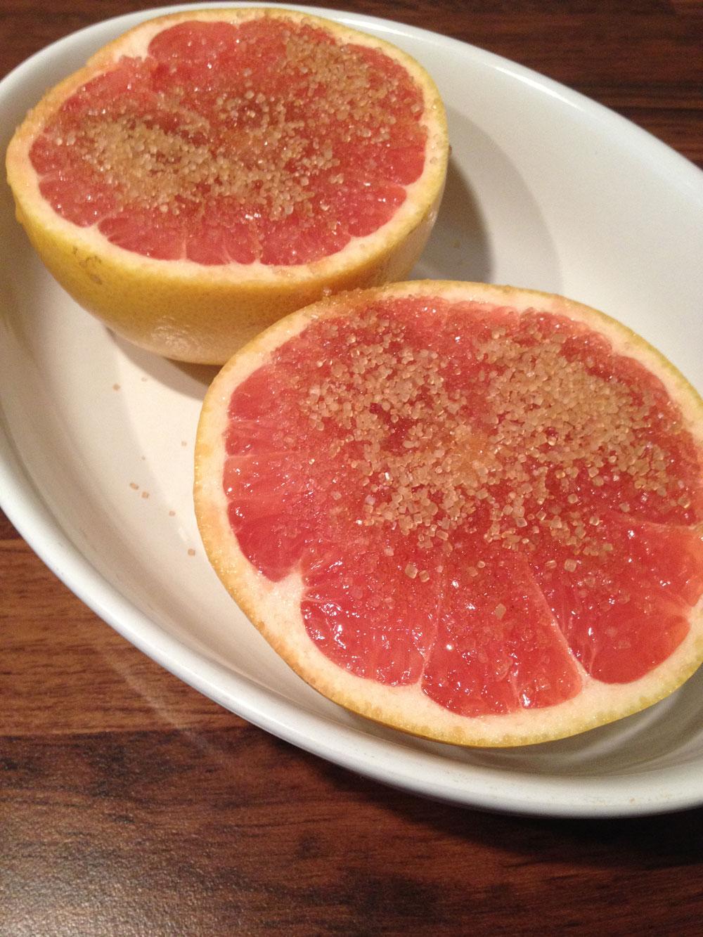 Grapefruit uit de oven