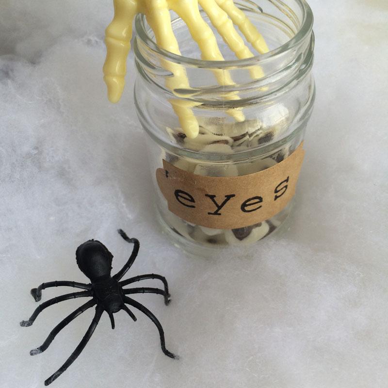 Halloween: vegan eetbare oogjes
