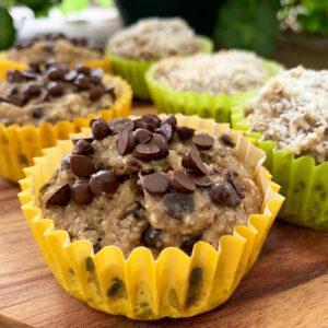 Havermout - bananen muffins