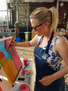 Je eigen schilderij maken bij Paintbar