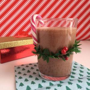 Kerst smoothie met pepermunt
