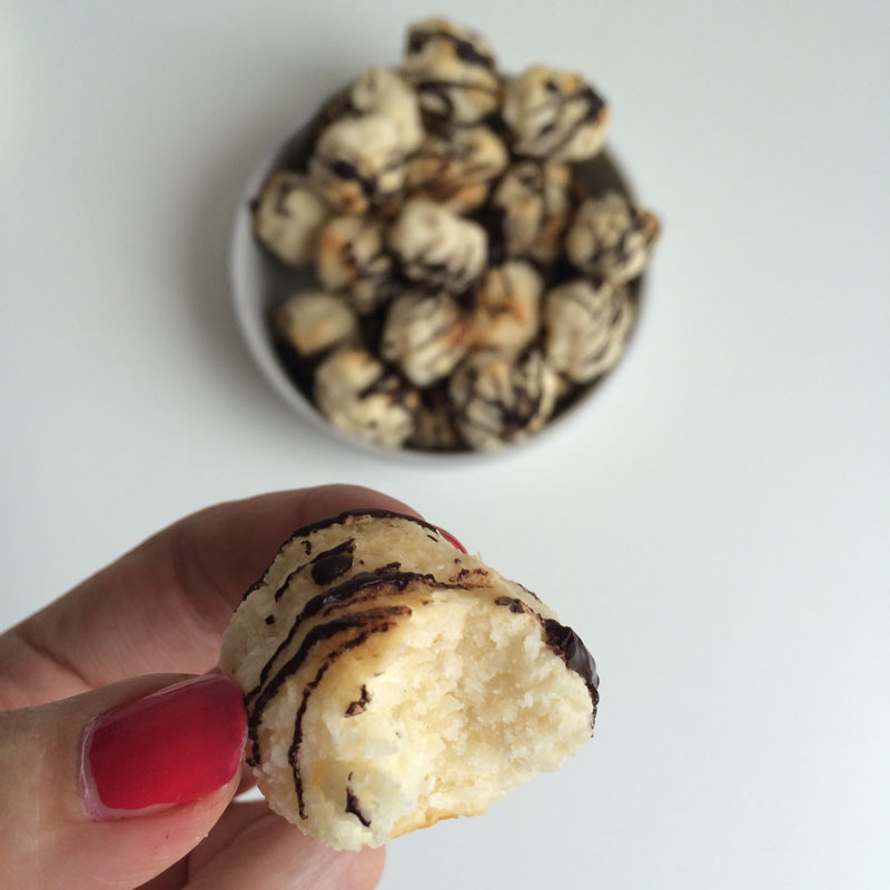 Kokosmakronen met chocolade