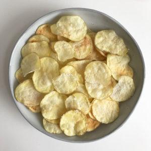 Krokante chips uit de magnetron (geen olie!)