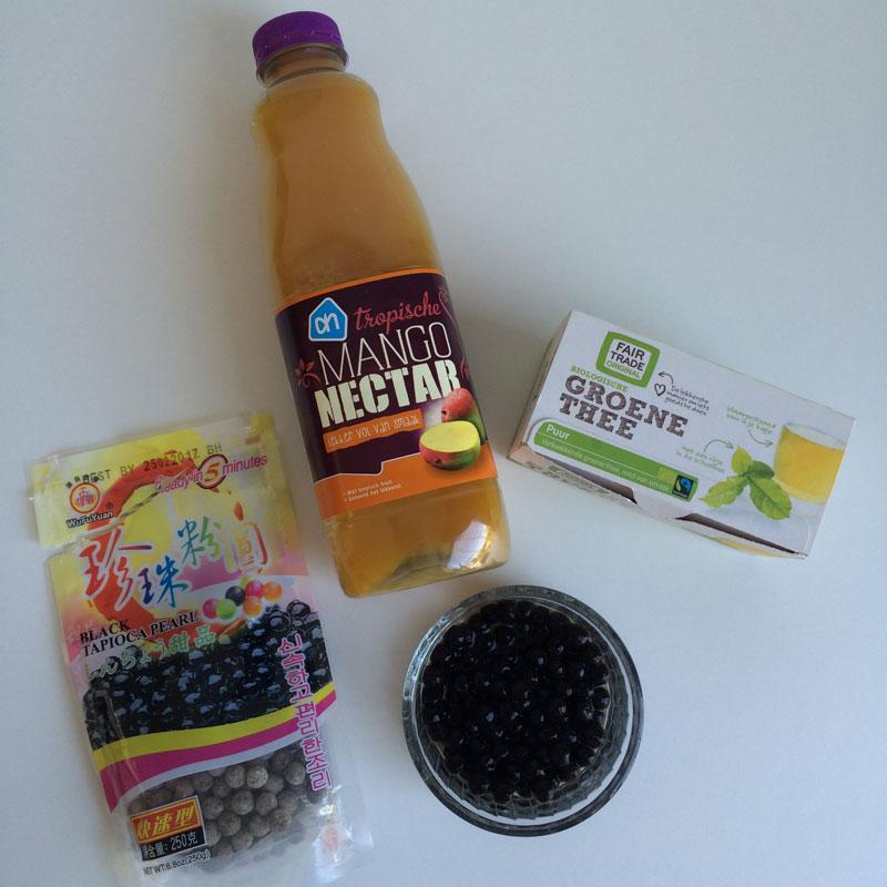 De mango nectar kocht ik bij Albert Heijn
