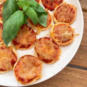 Mini pizza's met plantaardige kaas