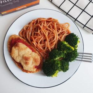 Vegan Quorn fillet parmigiana