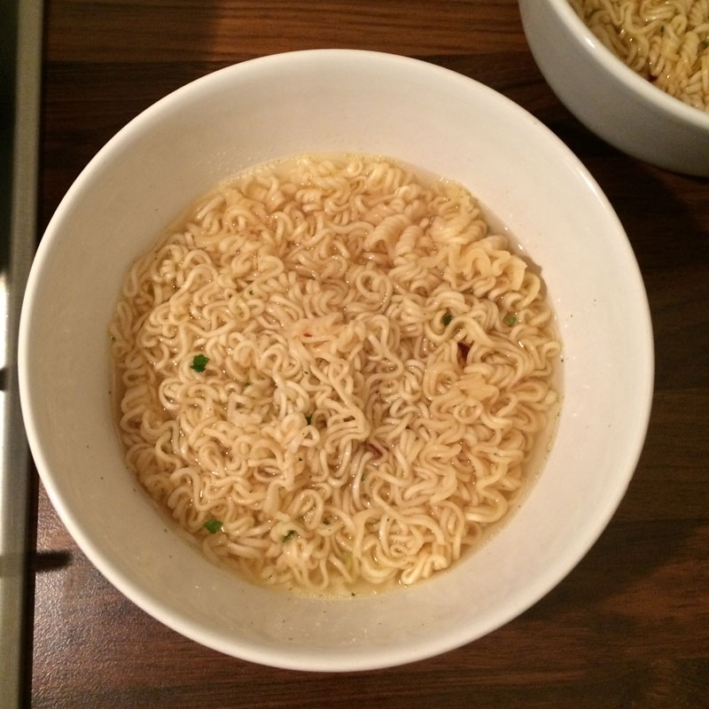 Noodles met spicy tofu
