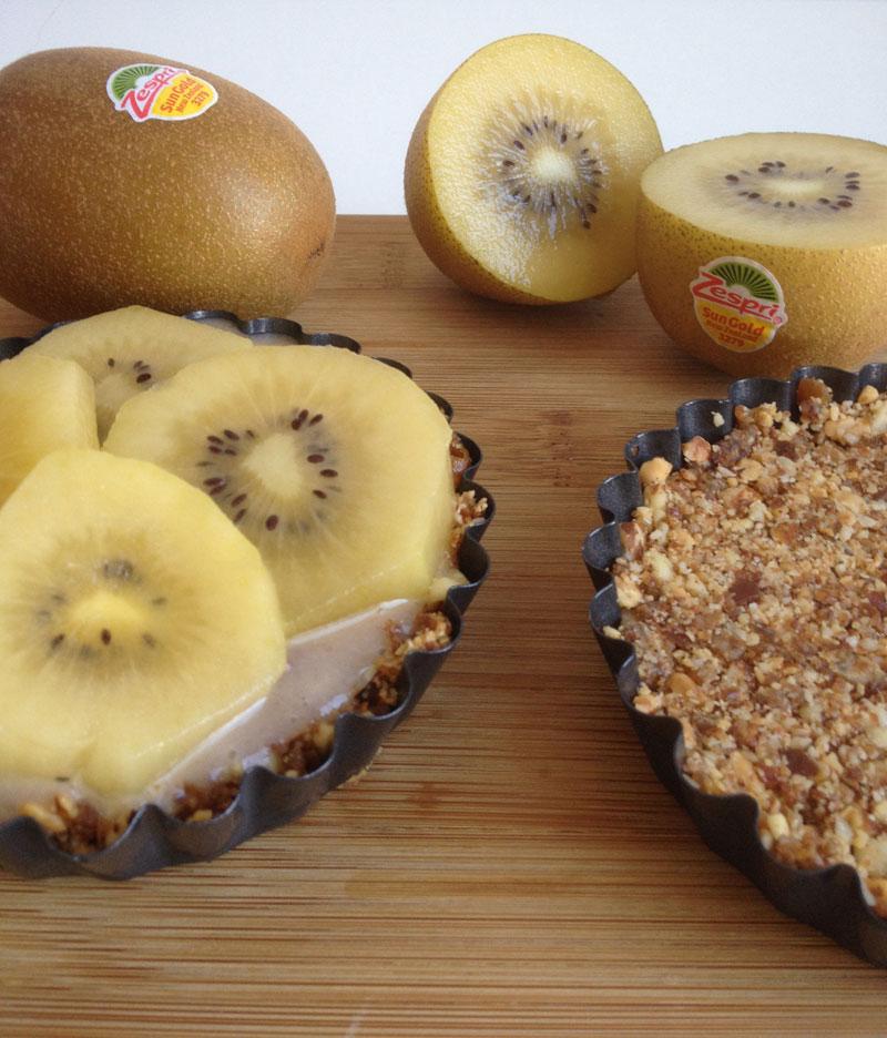 Raw kiwi bananen taartjes