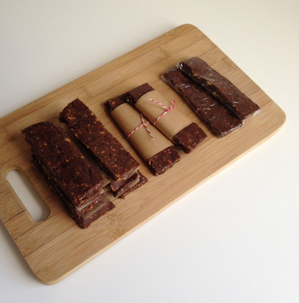 Raw chocolade sinaasappel repen