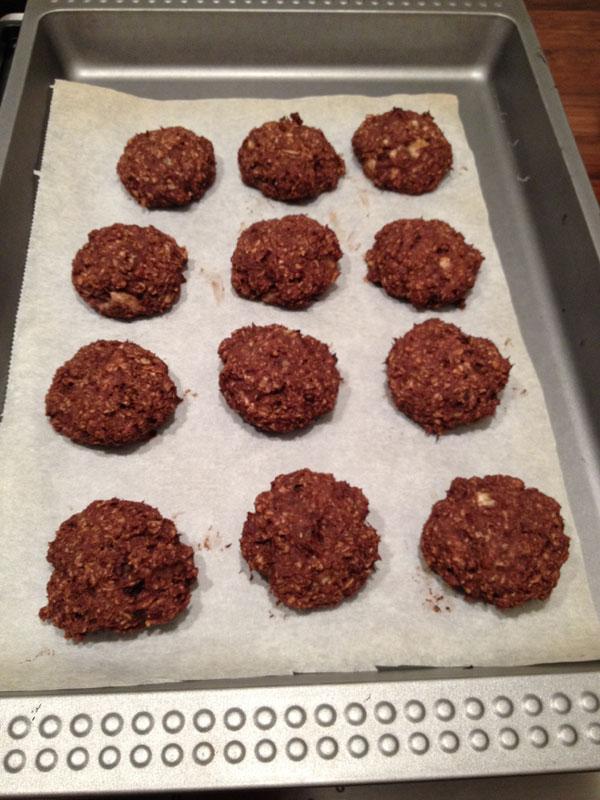 Slanke bananen choco cookies