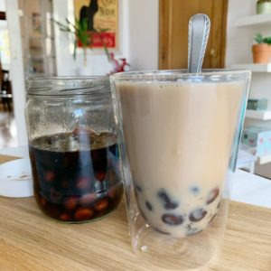 Speculaas bubble tea