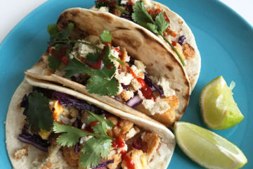Taco's met spicy bloemkool