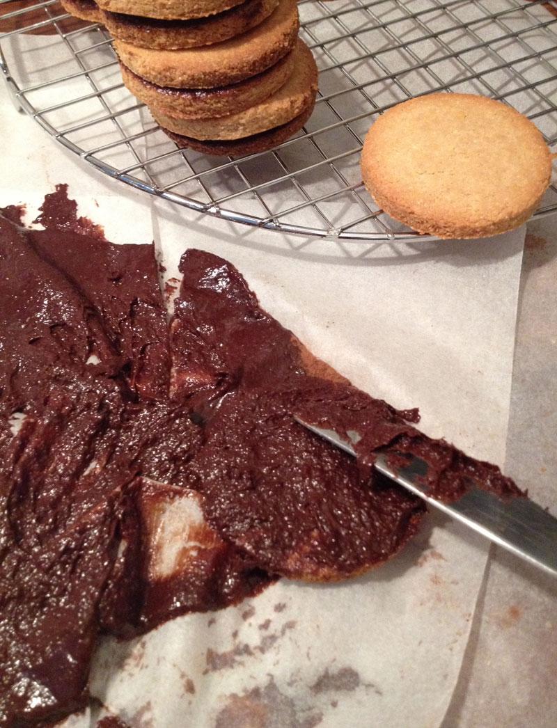 ronde chocolade koekjes
