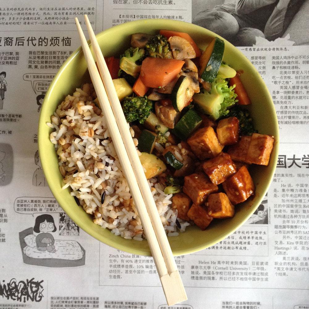 Teriyaki tofu met gewokte groenten – https://wateetjedanwel.nl/teriyaki-tofu-met-gewokte-groenten/