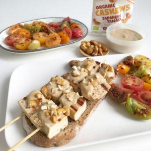 Tofu saté met cashewsaus