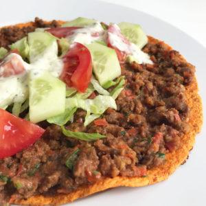 Turkse wrap pizza met vegan gehakt versie 1