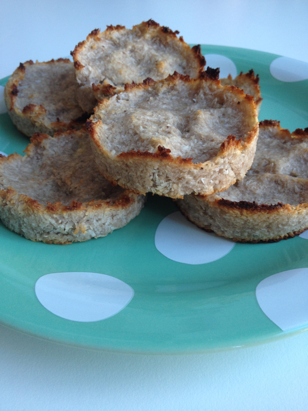 Two ingredient banaan kokos koekjes