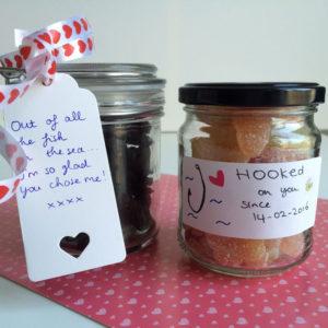 Valentijnsdag: potjes snoep