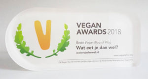 Wat eet je dan wel heeft de Vegan Award 2018 voor beste blog gewonnen!