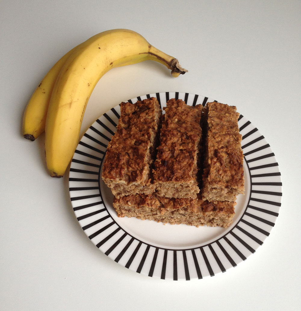 Vegan bananen havermout brood