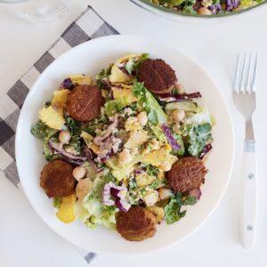Vegan Caesar Salad zoals ik 'm in Amerika at