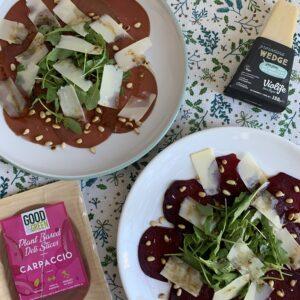 Vegan carpaccio op 2 manieren