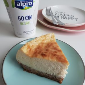 Vegan cheesecake met Alpro Go On