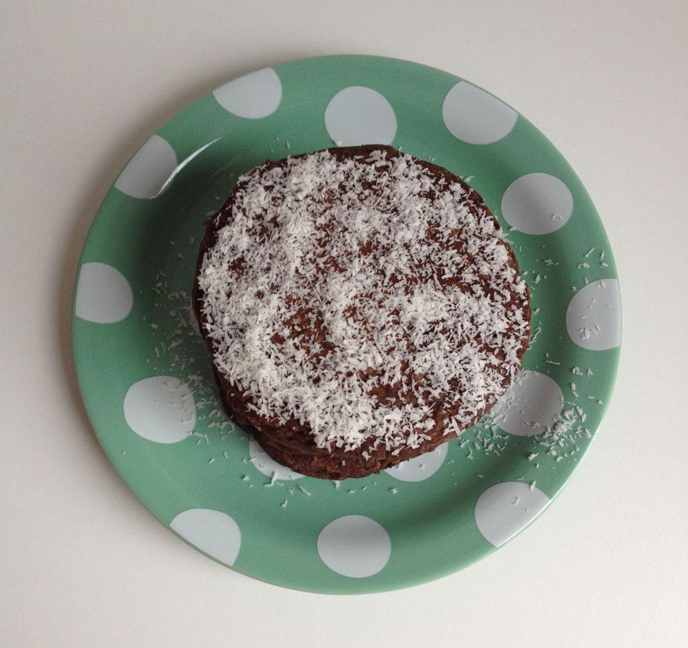 Vegan chocolade kokos pannenkoeken