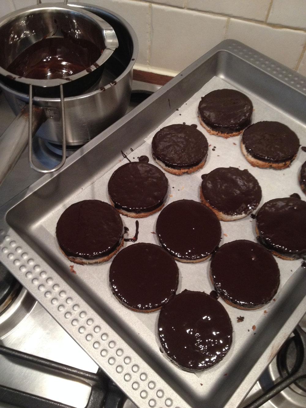 Vegan chocolade kokosmakronen