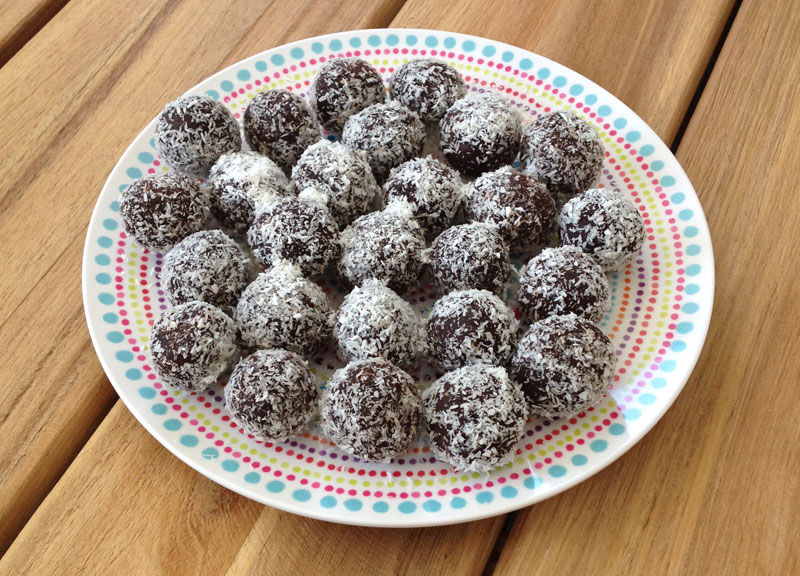 Gezonde vegan chocolade truffels