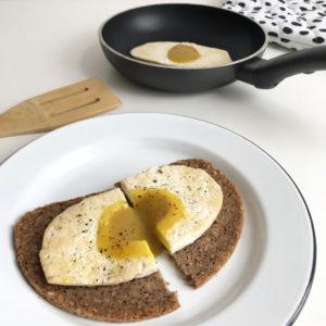 Vegan gebakken ei