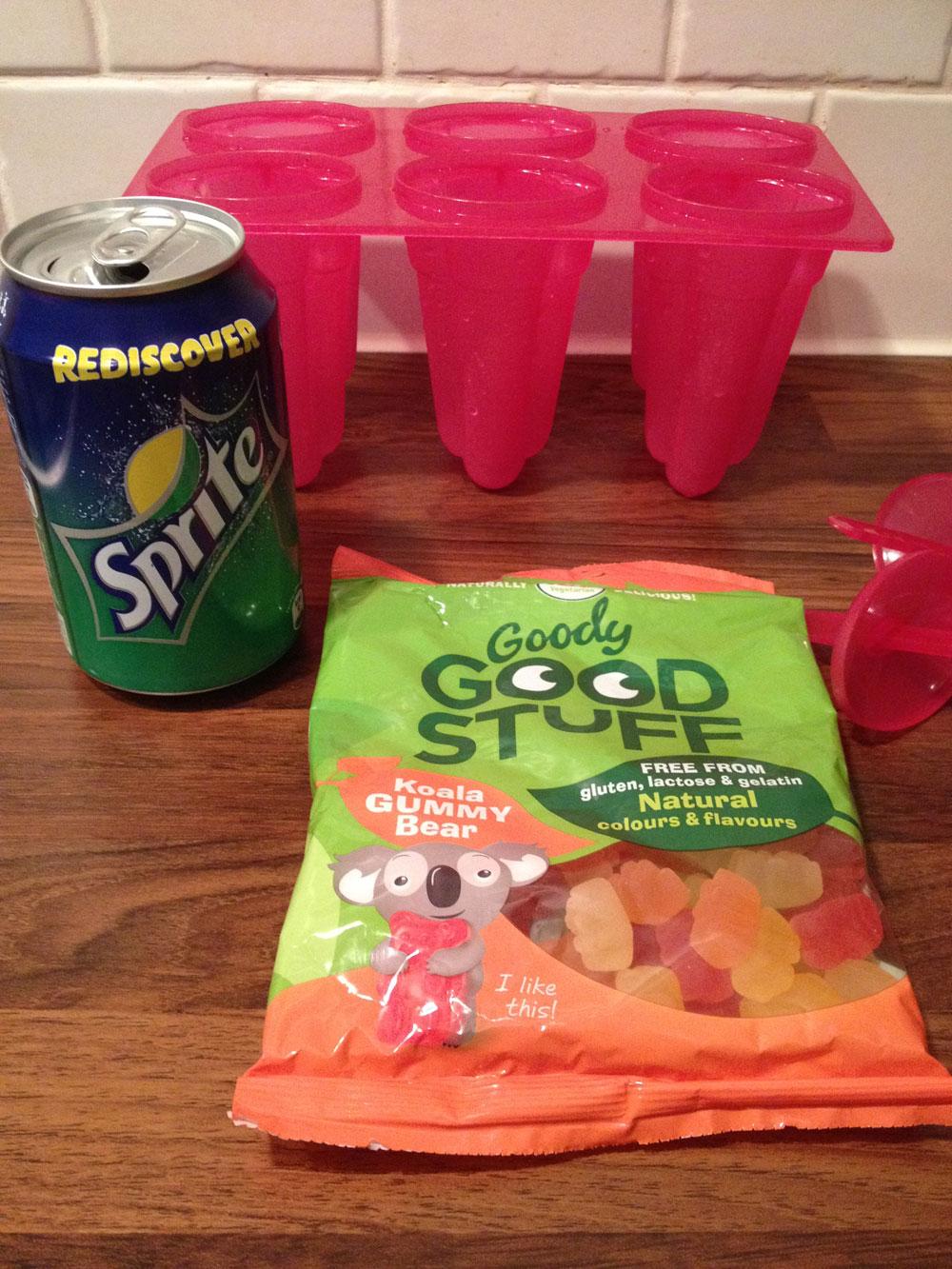 Vegan gummyberen ijsjes