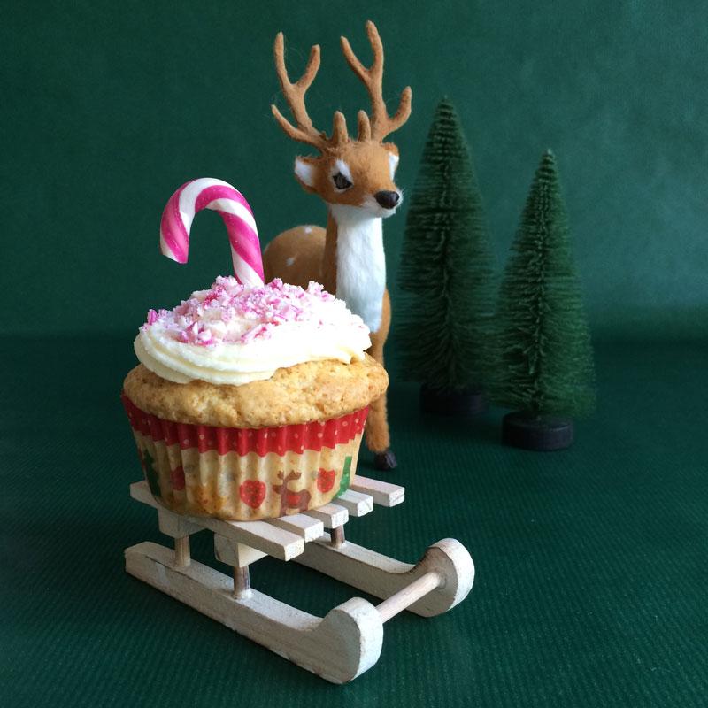Vegan kerstcupcakes