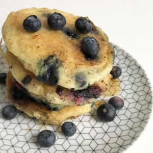 Vegan pannenkoekjes met blauwe bessen