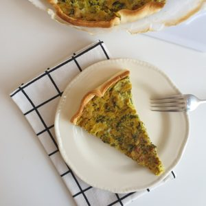 Vegan quiche met broccoli