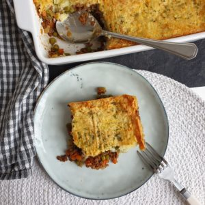Vegan sheperd's pie